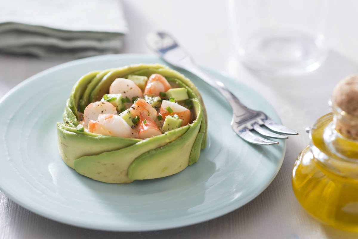 recette de salade d 39 avocat et crevettes. Black Bedroom Furniture Sets. Home Design Ideas