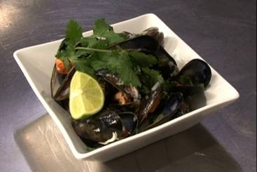 Thai spiced mussels