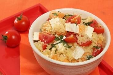 Tabbouleh with melon and feta