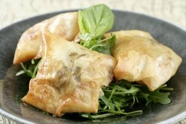 Tomato and mozzarella parcels