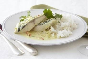 Indonesian fish curry with coconut milk