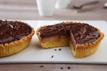 recette de tartelette aux poires et cr meux chocolat facile et rapide. Black Bedroom Furniture Sets. Home Design Ideas