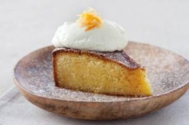 Orange polenta cake with vanilla mascarpone