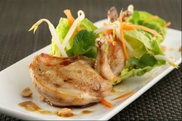 Quail with soy, lime and honey vinaigrette