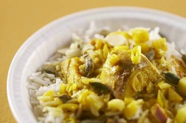 Super quick chicken curry with cardamom scented basmati rice Recipe