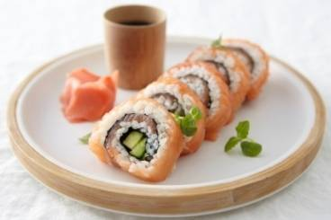 Recette de California salmon roll