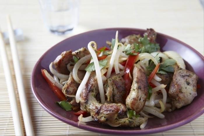 Stir fried turkey breast with Thai spices Recipe