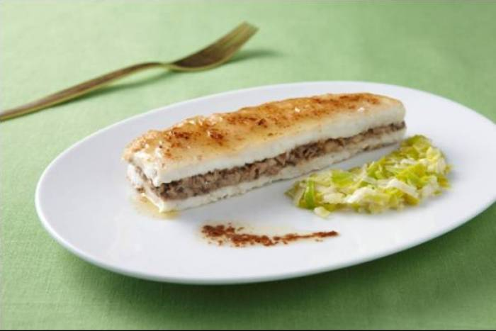 Meunière style sole, with mushroom and leek stuffing Recipe
