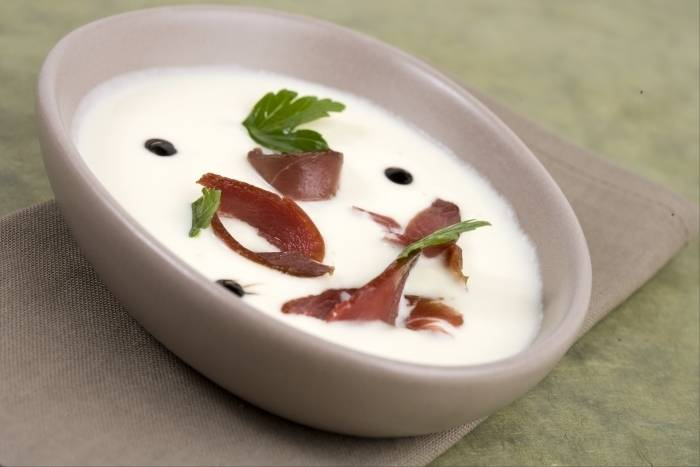 Cream of celeriac with smoked duck breast Recipe