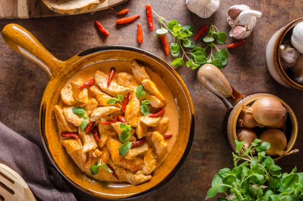 Thai Chicken red curry with Jasmine rice Recipe