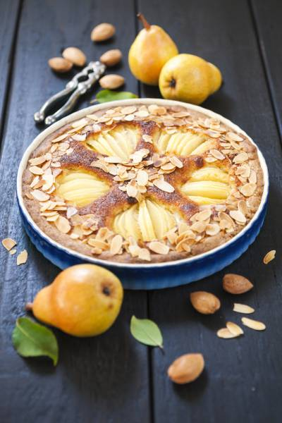 Pear and Frangipane Tart with Clotted Cream  Recipe