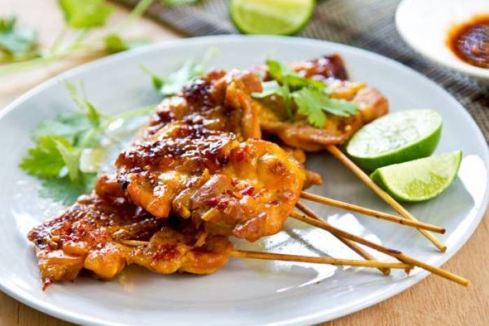 Korean Chicken Skewers with BBQ sauce- Dakkochi Gui with Ssamjang  Recipe