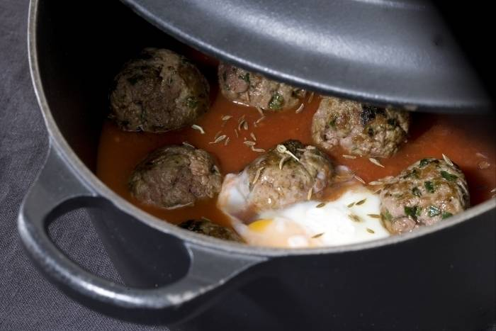 Cumin-spiced kofta tagine with eggs Recipe